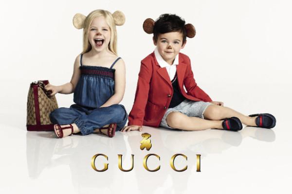 Рекламна фотосесия на колекцията за деца на Gucci