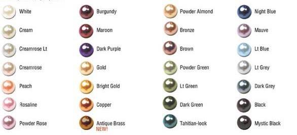 Цветове на перлите