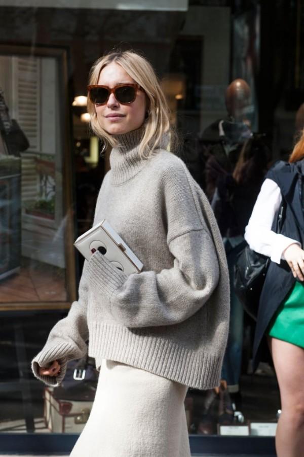 Street style: Аутфит с пуловер