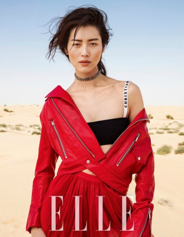ELLE China Март 2017: Liu Wen в Christian Dior Spring 2017 RTW