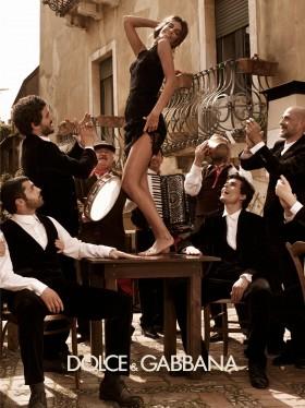 Dolce&Gabbana рекламна фотосесия сезон есен-зима 2012