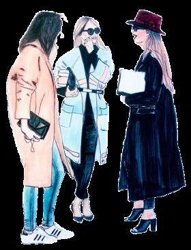 Модни илюстрации: Fashion Coats