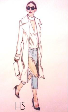 Модни илюстрации: Destroyed Denim