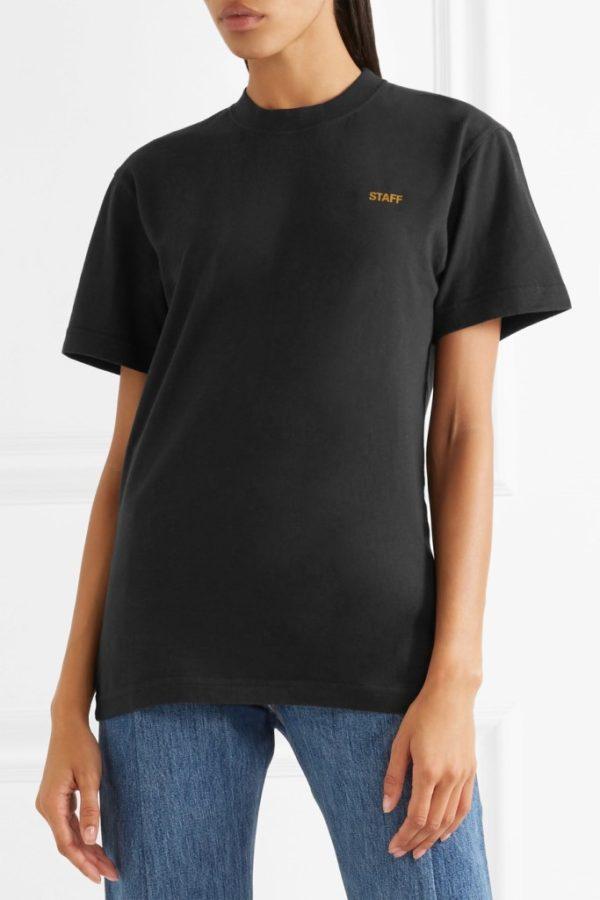Vetements T-shirts STAFF printed